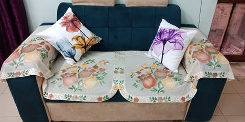 Sporal Flora Cotton Feel Cushion Covers - 5 Piece/Set