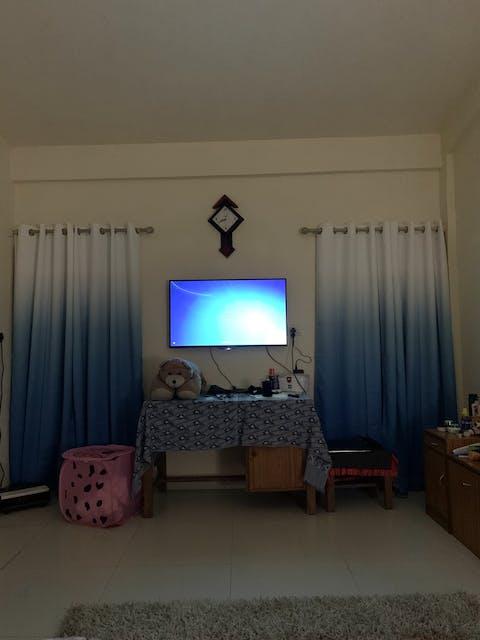 Shading Effect Premium Blackout Curtains - Blue