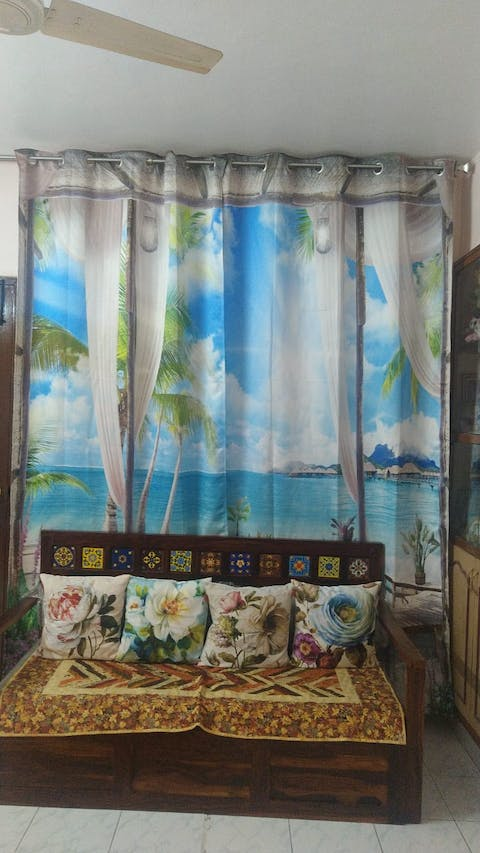 Premium Blackout Digital Curtains - Sunny Day at Beach(Set of 2) 2020 Edition