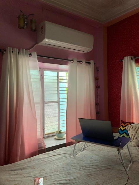 Shading Effect Premium Blackout Curtains - Pink