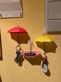 3Pcs/lot Umbrella Shaped Decorative Key Hanger