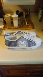 Boho Sloth Shoes - Blue Low Top Sloth Sneakers