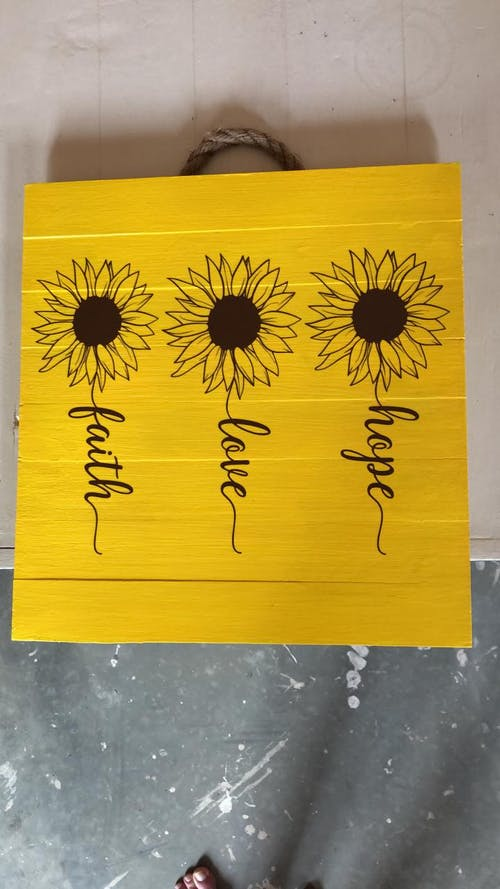 Faith Hope Love Sunflower SVG