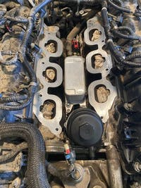 SPELAB Engine Oil Filter Cooler Housing Adapter Assembly Sensors 5184294AE 5184294AC 5184294AD for 2011-2013 Chrysler Dodge Jeep Ram 3.6L V6 Engine