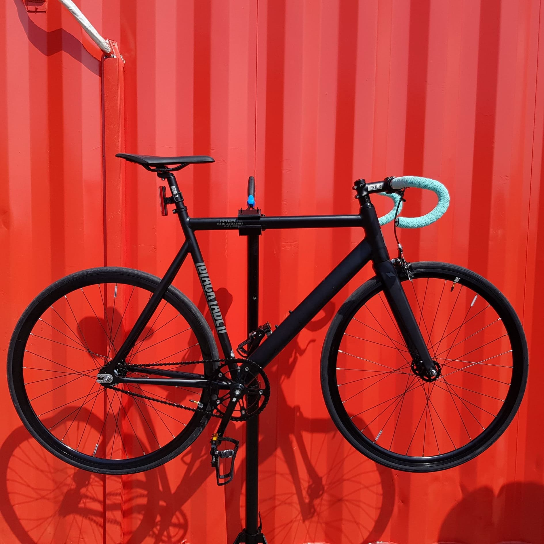 6061 Black Label v2 Matte Black Bicycle : Track Bike / Fixie Bikes