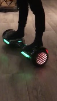 ClassyWalk® 3 LED Hoverboard - Svart/Sølv
