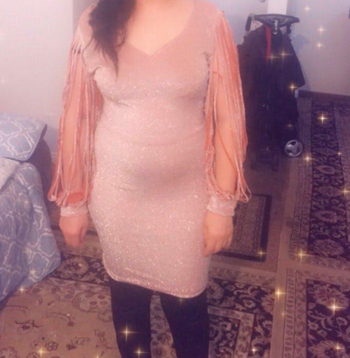 Glamours v neck dress