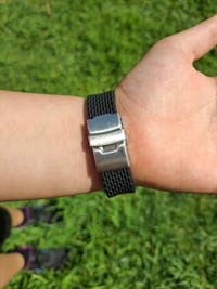 The Grid V3 Black (Deployant Clasp)