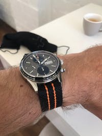 SharkTooth NATO (Adjustable) - Stealth Black/Orange