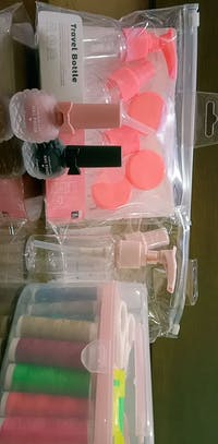 4-Pack Travel Bottles Set (Lotion Pink)