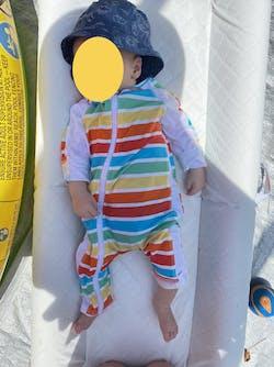 "Sunsuit - Long Sleeve Romper Swimsuit with UPF 50+ UV Sun Protection | ""Rainbow"""