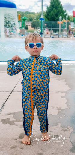 """Sunsuit - Long Sleeve Romper Swimsuit with UPF 50+ UV Sun Protection 
