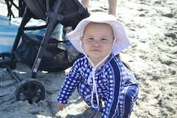 "Kid's Wide Brim Sun Hat ""Fun Sun Day Play Hat"" - White"