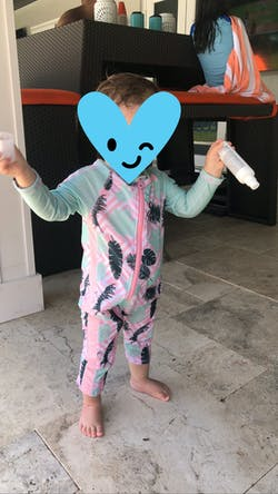 """Sunsuit - Girl Long Sleeve Romper Swimsuit with UPF 50+ UV Sun Protection 