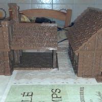 Contadino casa capanna legno edificio fantasy scenico