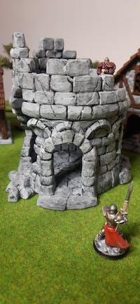 Torre rovina castello edificio fantasy scenico