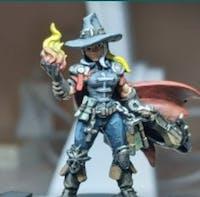 Umana cacciatore vampiri inquisitore miniatura