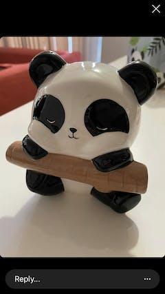 Pandarama Panda on Branch Money Box with Gift Box