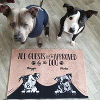 Dog - All Guest Must Be Approved By The Dog - Funny Personalized Dog Decorative Mat