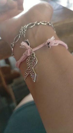 Breast Cancer Awareness Ribbon Bracelet