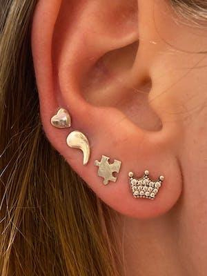 Semicolon Sterling Silver Earrings