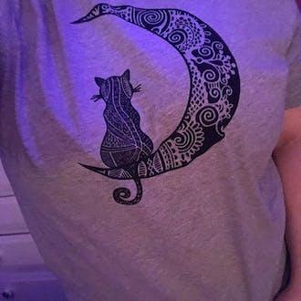 Moon Cat Unisex Jersey Tee
