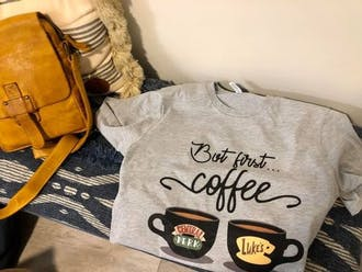 But First Coffee Central Perk and Luke's Diner Unisex Jersey Tee