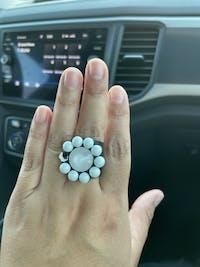 Daisy Pearl Pastel Smutt Ring