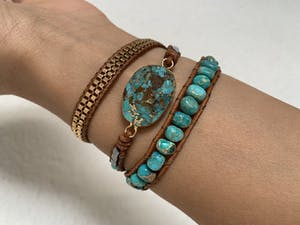 Cassiopeia Leather Wrap Bracelet