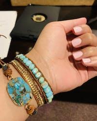 Cassiopeia Leather Wrap Bracelet