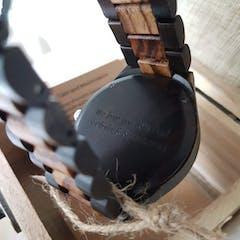 Alpine II | Ebony & Zebra Wood Watch | Wooden Watches UK