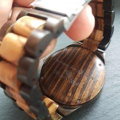 Amsel | Zebra & Ebony Wood Watch | Wooden Watches UK