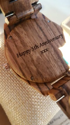 Dulani | Zebra Wood Watch | Wooden Watches UK