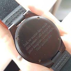 Hoku I | Ebony Wood Watch | Wooden Watches UK