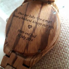 Kairos | Zebra Wood Watch | Wooden Watches UK