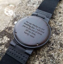 Khaya | Ebony Wood Watch | Wooden Watches UK