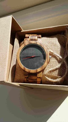 Vintage | Zebra & Bamboo Watch | Wooden Watches UK