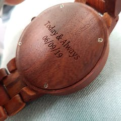 Ona | Red Sandalwood Watch | Wooden Watches UK