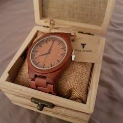 Kirabo | Red Sandalwood Watch | Wooden Watches UK