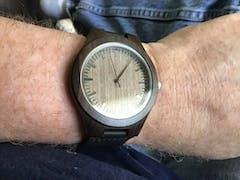 Iroko | Ebony Wood Watch | Wooden Watches UK