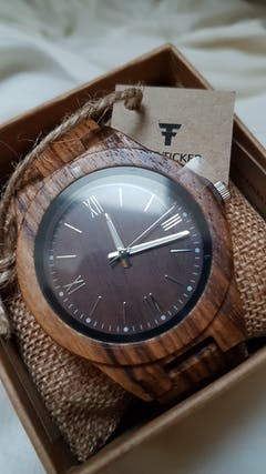 Dulani | Zebra Wood Watch | Wooden Watches UK