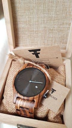 Marula II | Zebra Wood Watch | Wooden Watches UK