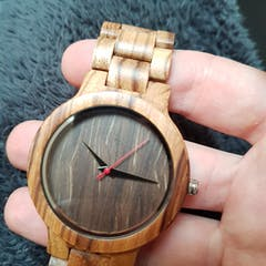 Vintage II | Zebra Wood Watch | Wooden Watches UK
