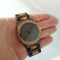 Amsel | Zebra & Ebony Wood Watch | Wooden Watches UK