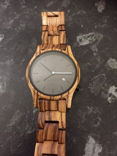 Marula II | Zebra Wood Watch | Wooden Watches UK