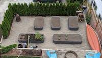 "17"" Tall 9 In 1 Modular Metal Raised Garden Bed Kit"