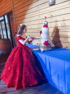 Couture Sparkly Sequin Ball Gown Off the Shoulder Debut Dresses FD1768 viniodress