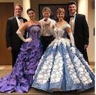 3D Floral Light Blue Sequin Ball Gown Prom Dresses Vintage Sweet 15 Dress FD1109 viniodress