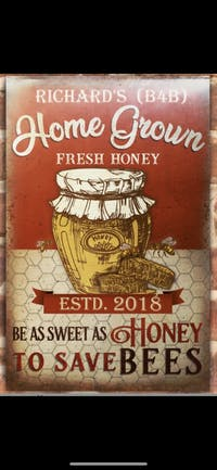 Personalized Honey Bee Farm Classic Metal Signs