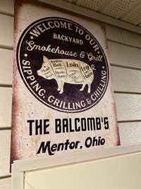 Personalized Grilling Pig Welcome To Our Backyard Customized Classic Metal Signs